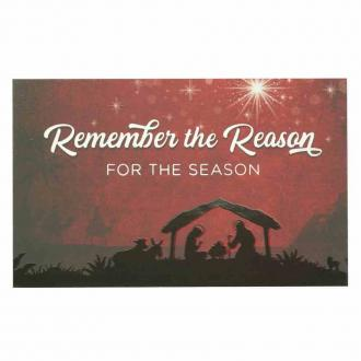 PIO 1067 Julekort - Remember The Reason For The Season (8 x 5 cm)